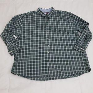 Tommy Hilfiger Casual Shirt Mens 3XL Green Plaid